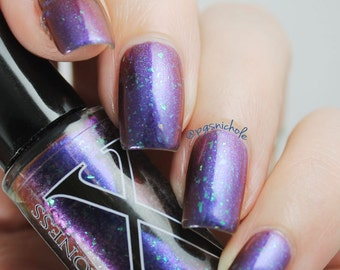 Maril'd - Multichrome Flakie Polish - Multichrome Shifting Nail Lacquer with Large Iridescent Flakies and Micro Shifting Glass Flake