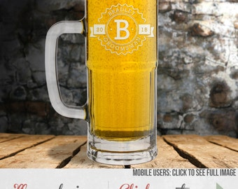 Etched Beer Mug – Wedding Party Gift