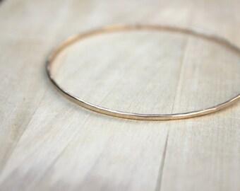 Gold Filled Bangle | Rose Gold Bracelet | Thin Bangle | Bridesmaid Gift [Irah Bracelet]