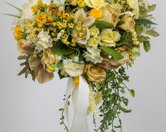 Silk Two piece WEDDING FLOWERS bouquet  package
