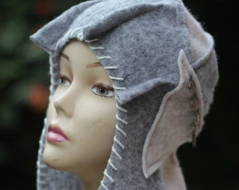 Handmade Felt hats Unique Felt Hats winter Hat Designer hat womens hats trendy winter fashion  Womens Felt Hat trapper hat festival headwear