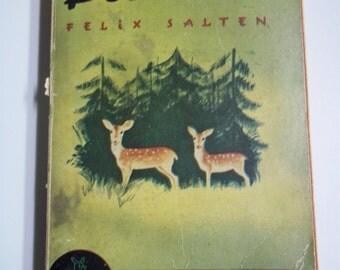 Bambi by Felix Salten Pocket Books #10 1940 6th Printing Vintage Paperback