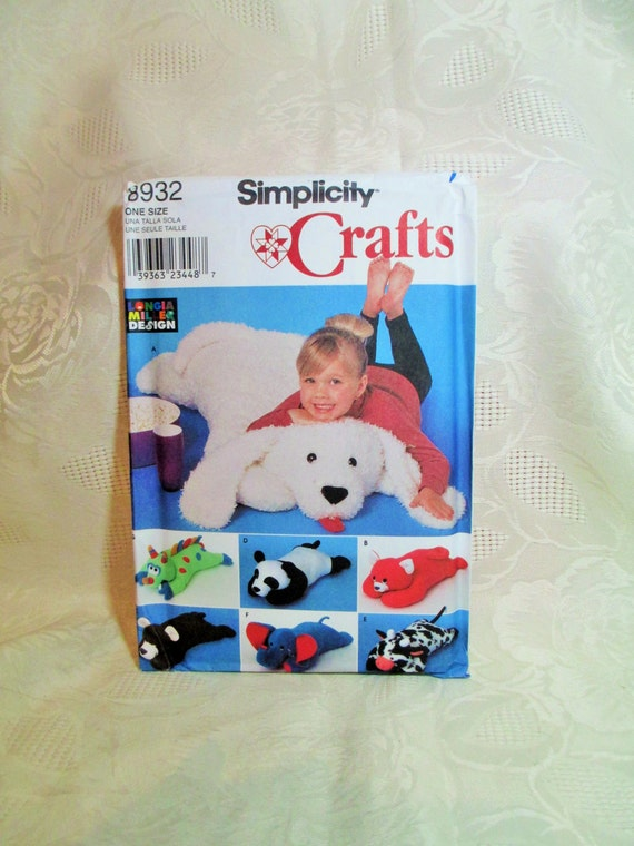 Floor Pillow Simplicity Crafts 8932 Sewing Pattern Pillow