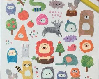 Funny animal sticker,sketch,animal sticker,colorful craft supply,scrapbook supply,diary sticker,colorful sticker