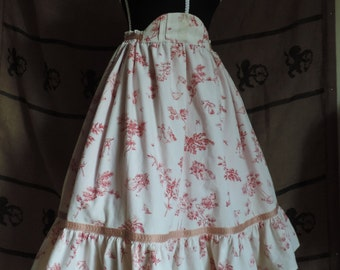 Lolita skirt with a Jouy fabric