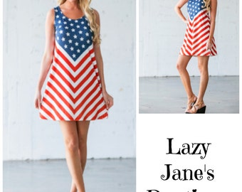 US Flag Dress - SALE - Originally 28.00 - Now 22.00