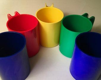 Five Heller Maxmugs designed by Massimo Vignelli
