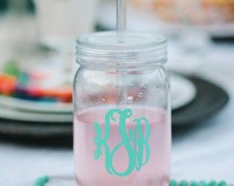 Mason Jar with Straw