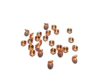 5 or 10-Pack of Champagne Stardust Crystals for Floating Lockets-2.8mm-Gift Idea