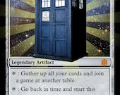 Magic the Gathering Custom Foil Card:  The Tardis