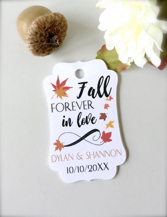 Wedding favor tags, fall wedding tags, personalized tags, thank you ...