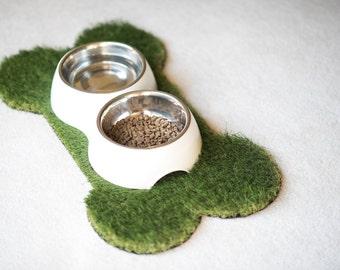 Dog Bone Synthetic Grass Doormat | Rug | Wall Art Decor
