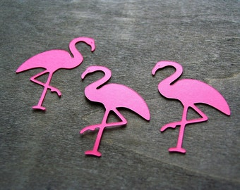 Flamingo confetti, 30  pcs, Luau party decorations, Tropical party decor, Hawaiian party decorations, Pink flamingo table confetti,