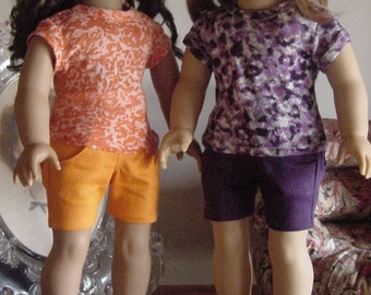 4 pocket denim shorts for 18 inch dolls