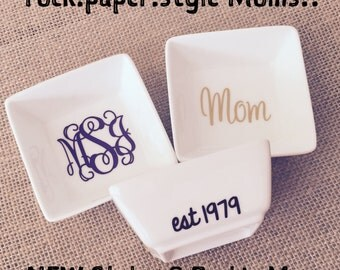 Custom Ring Dish FREE Personalization Jewelry Box Mom Day Engagement Gift