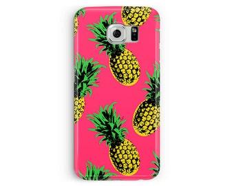 Samsung S6 case, Pineapple Phone case, S6 Edge, Pineapple Samsung S6 Case, gifts for her, S6 Case, Samsung S6 Edge Case, Plastic Phone Case