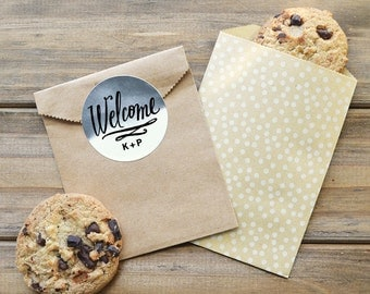 Wedding Welcome Labels - Wedding Welcome Stickers - Set of 20