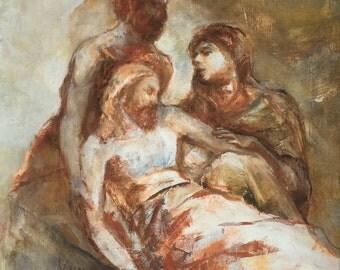 John 3:16 God So Loved the World - 14x12 Fine Art Print