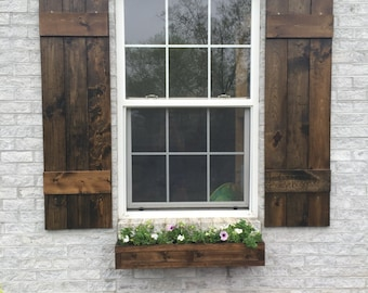 shutters wood shutters rustic shutters exterior shutters stained