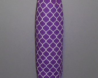 Grocery Bag Holder - Plastic Bag Holder - Bag Dispenser - Purple Quatrefoil- Purple Lattice