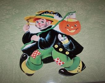 Eureka Halloween die cut boy costume hobo JOL pumpkin jack o' lantern decoration