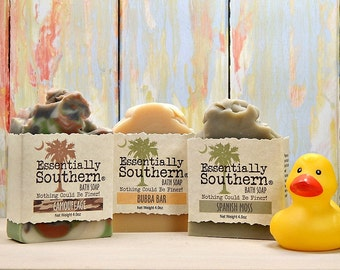 Mens Soap Set Gift, Under 25, Beer Soap, Camo Soap, Spanish Moss Soap, Manly Soap, Gift for Dad, Boyfriend Gift, Gift for Men, Charleston SC