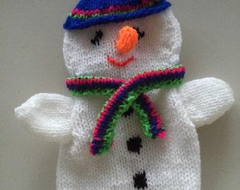 Snowman hand puppet, snowman poppenkastpop