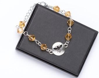 Beaded Bee Bracelet | Bee Jewellery | Bumblebee Bracelet | Bumblebee Charm Bracelet