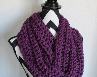 Dusty Grape Infinity Scarf