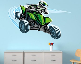 Handmade dirt bike wall decals etsy for Dirt bike wall mural