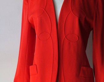 French vintage blazer + 90s coral jacket