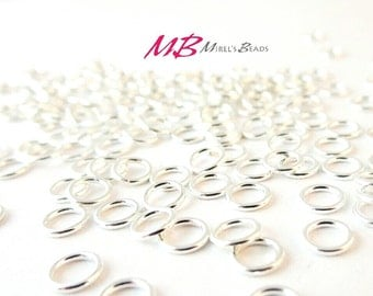 144 5mm Jump Rings, Silver Plated Jump Rings, Open Jump Rings