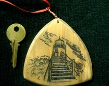 Wooden Christmas Ornament - Owls Head Lighthouse