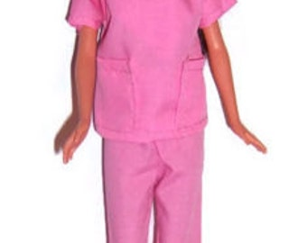 Pink Two Pocket Scrub Set for Fashion Dolls
