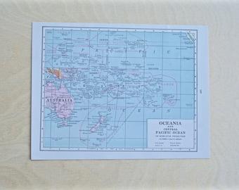 1925 - Australia Map - Antique Cram's Atlas Map - Vintage Australia Map - Old Atlas Map - Small Antique Map
