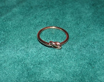 Rose Gold Plated Love Knot Ring