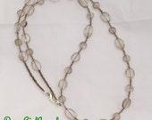Smoky quartz necklace - taupe, greige, negativity, hyperactivity, ADD, focus - DGJ673