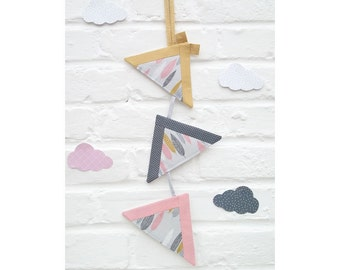 Suspension/Garland wall /decoration room baby 3 Tepee/bedroom child