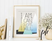Charlotte Mason Quote, Homeschool, Wild and Free, I am I can I ought I will, Printable Homeschool, Quotes, Quote Prints, Quote Inspirational