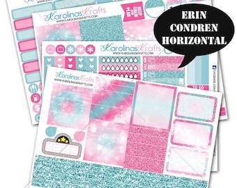 Pink and Blue Glitter Bokeh Planner Sticker Kit 200+ for Erin Condren Horizontal Planner Stickers, Glitter Stickers #SQ00259-ECH