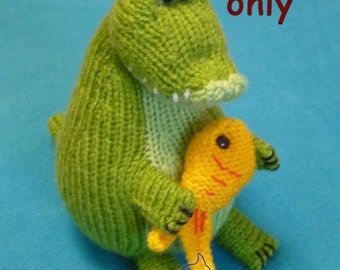 Crocodile, knitting pattern amigurumi