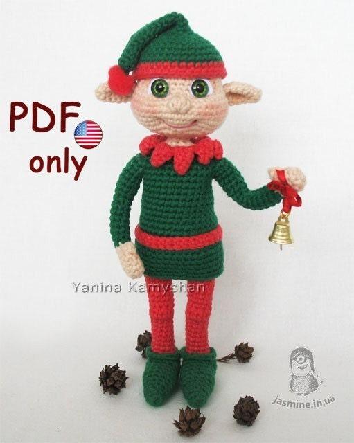 Zelda Amigurumi Patterns : Christmas Elf amigurumi crochet pattern by jasminetoys on Etsy
