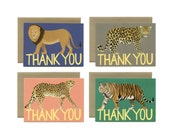 "Big Cat Variety Thank You Card - Boxed Set of 8 Cards and Envelopes - ""Thank You"" - ID: TYBOX001"