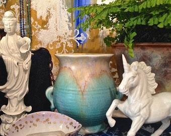 Easter decor Art Deco Beswick Ceramic vase Studio pottery Flower vase Pottery Vase Ceramics and Pottery Handmade Pottery Anniversary Gifts