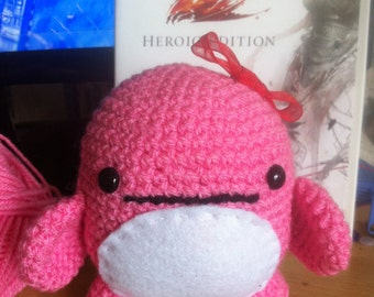 Pink Quaggan from Guild Wars 2 Mmo. Handcrafted, Crochet, Amigurumi Plushie