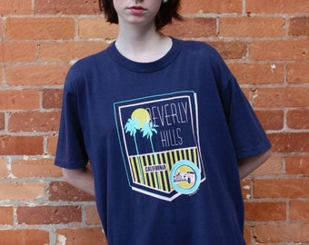 Beverly Hills 1980s Vintage T-Shirt, size XL