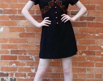 Vintage 40s Inspired 1970s Lotus Modellen Dress
