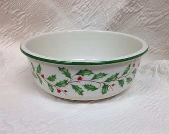 Lenox holiday bowl   Etsy