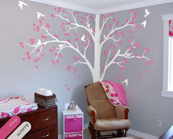 baum wall decal volle ecke baum aufkleber kinderzimmer wand. Black Bedroom Furniture Sets. Home Design Ideas