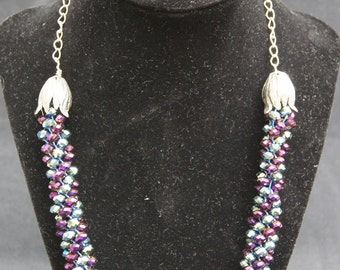 Spiral Kumihimo Beaded Necklace